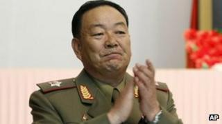 Vice-Marshal and new North Korean army chief Hyon Yong-chol applauds during a meeting announcing North Korean leader Kim Jong-un's new title of marshal on Wednesday 18 July 2012 in Pyongyang, North Korea