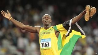 Usain Bolt at the 2008 Olympics