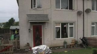 Scene of arson attack in Workington