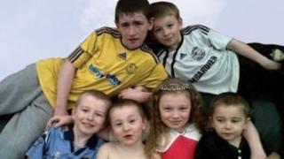 Duwayne Philpott, 13, Jade Philpott, 10, and brothers John, nine, Jack, seven, Jessie, six, and Jayden, five