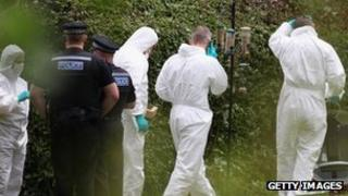 Police at scene of a killing