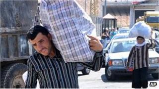 Syrian flee in Lebanon