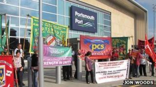 Condor Ferries protest