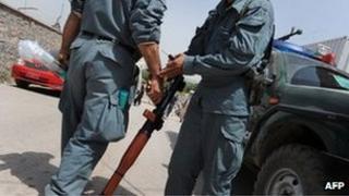 Afghan police file image