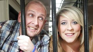 Ray Giffen and Niamh McCann of McCracken Summer School in Belfast's Crumlin Road Prison, the venue for a unique concert.