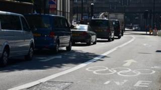 French vehicles avoid Games Lane