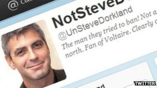 Screenshot of NotSteveDorkland Twitter account