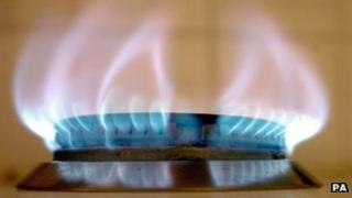 A gas ring flame