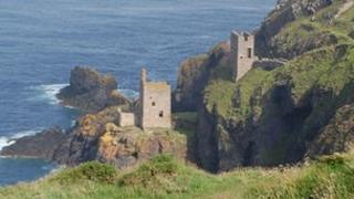 Botallack mining area in west Cornwall