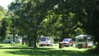 Travellers at Central Park, Plymouth