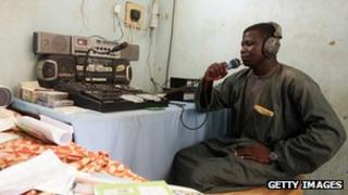 Village radio station in southern Niger