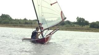 Sailor on Chasewater reservoir