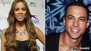 Marvin Humes from JLS and Rochelle Wiseman from The Saturdays