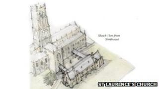 Proposed extension to St Laurence's church