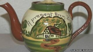 Miniature Buckley teapot, thought to have been made by Powells