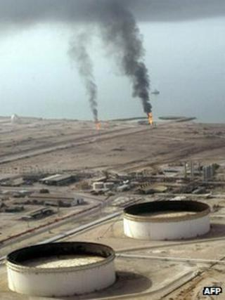 File picture of the Lavan oil refinery quay at Lavan island off the southern coast of Iran
