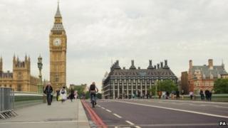 Deserted Westminster Bridge