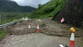 Landslip at the Rest and Be Thankful