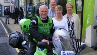 Charity bike rider