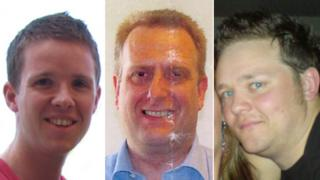 Neil Harold, Gordon McRae and Greig Brown