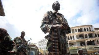 AU soldiers in Mogadishu (June 2012)