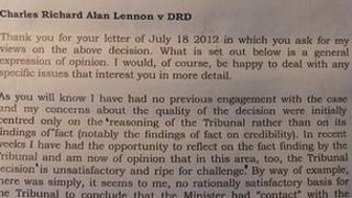 Attorney general's letter