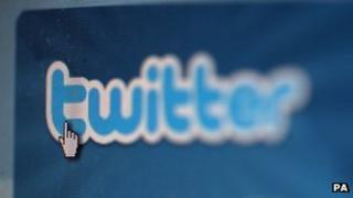 Twitter logo on a computer screen