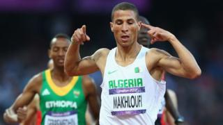 Makhloufi running in the Olympics