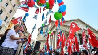 General Confederation of Italian Workers protest