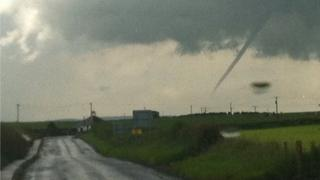 Funnel cloud over Tarbolton