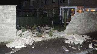 Trowbridge property hit by a car