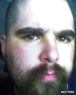 """Wade Michael Page, 40, is seen in this undated picture from a myspace.com web page for the musical group """"End Apathy"""""""