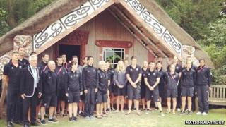 Hinemihi and the New Zealand Olympic team