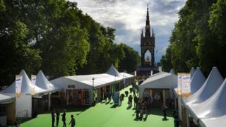 The Africa Village and the Albert Memorial, Hyde Park, London
