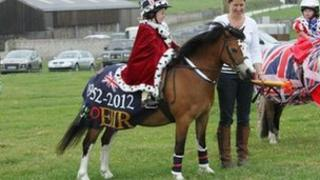 Pippa James with pony Spiral