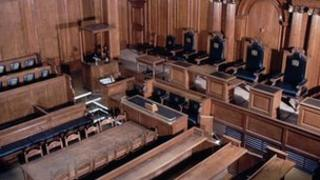 A court room at the Old Bailey