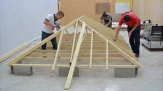 Guernsey building course: Young people learning basic building skills