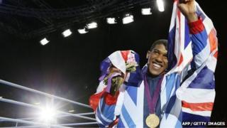 Anthony Joshua wins gold at London 2012