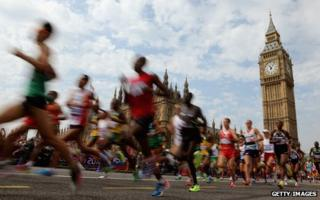 Athletes running at Westminster