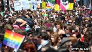 Gay rights march in Strasbourg