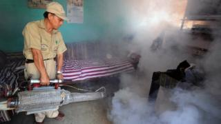 Insecticide spraying in Guatemala