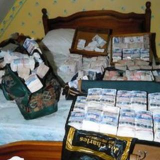 The money seized