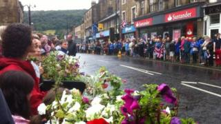 Crowd in Otley