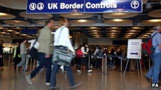 Passport control at Heathrow's Terminal 5