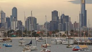 Boats float in St Kilda Harbour on August 14, 2012 in Melbourne, Australia.