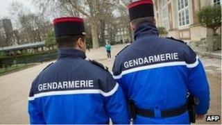 French police in Paris