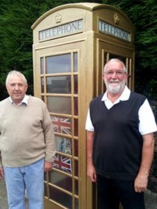 Parish councillors Keith Batley and Tony Whitbread
