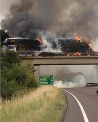 Fire on A19