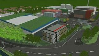 An artist's impression of the recycling centre