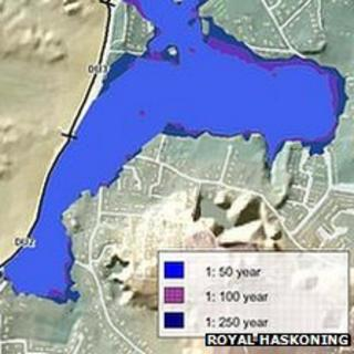 Flood map of Cobo